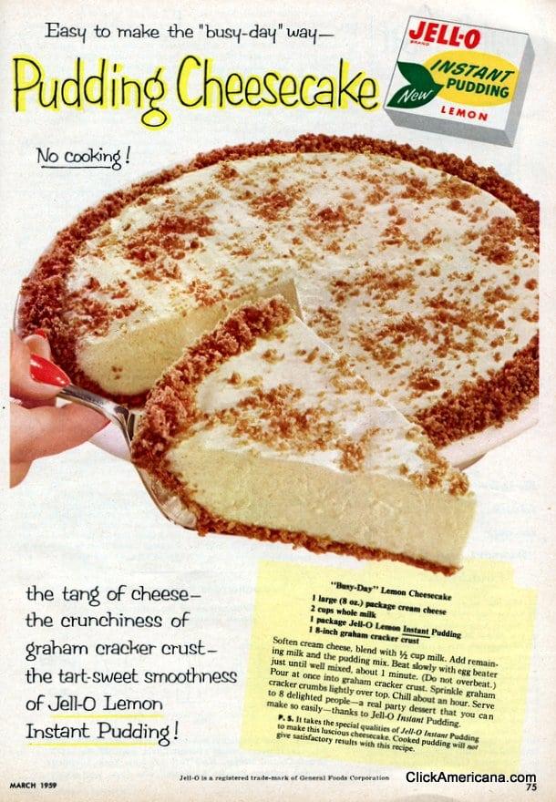 "Busy-Day"" Lemon Cheesecake (1959) - Click Americana"