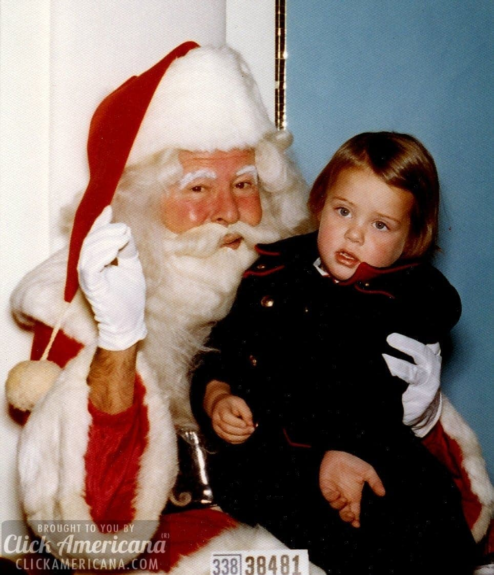 Vintage Ho-Ho-Holiday photos with Santa (1940s-1990s)