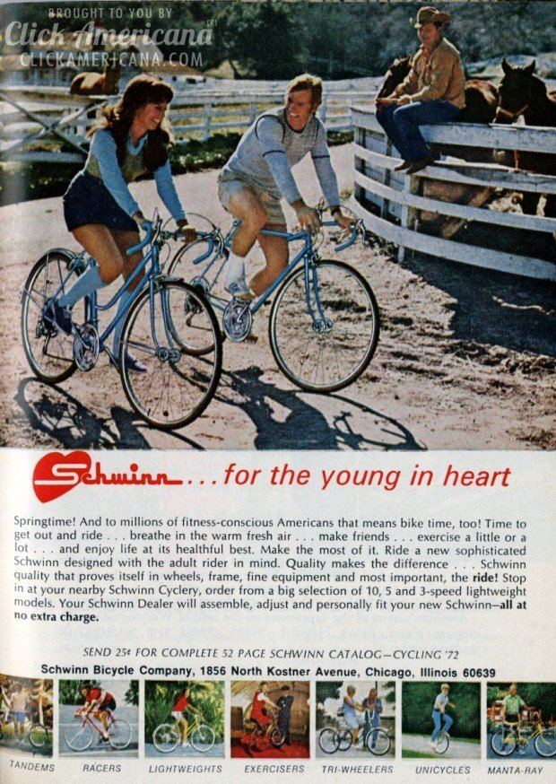 Schwinn bicycles: For the young at heart (1972-1973) - Click