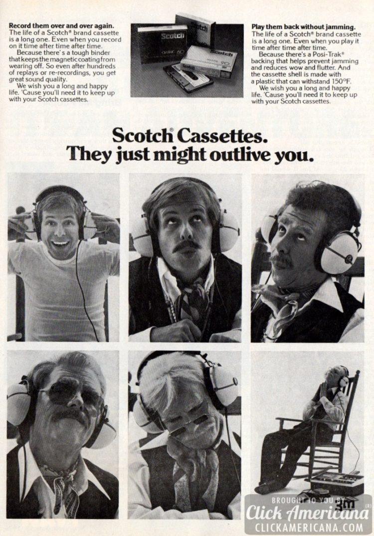 Scotch cassette tapes - 1976