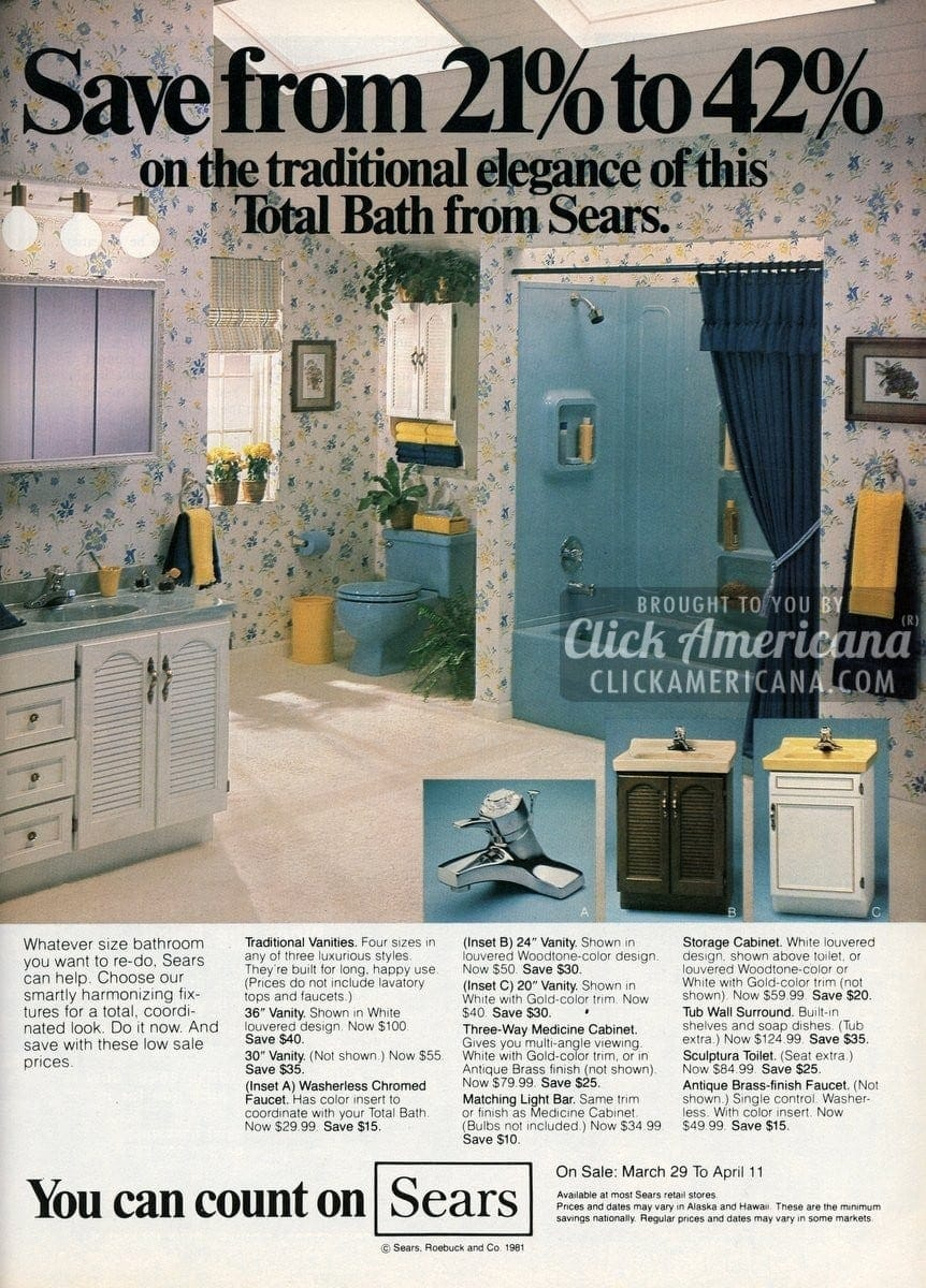 Sears Bathroom Accessories 18 Bathrooms Home Decor Ideas From 1968 Click Americana