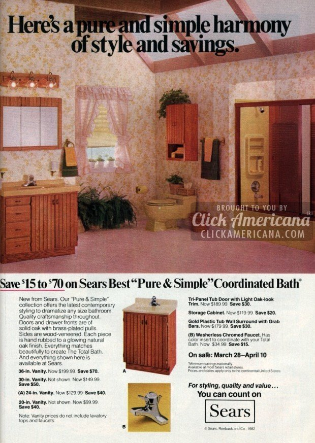 sears bathroom remodels april 1982. Remodel your bathroom with Sears style  1981 1982    Click Americana
