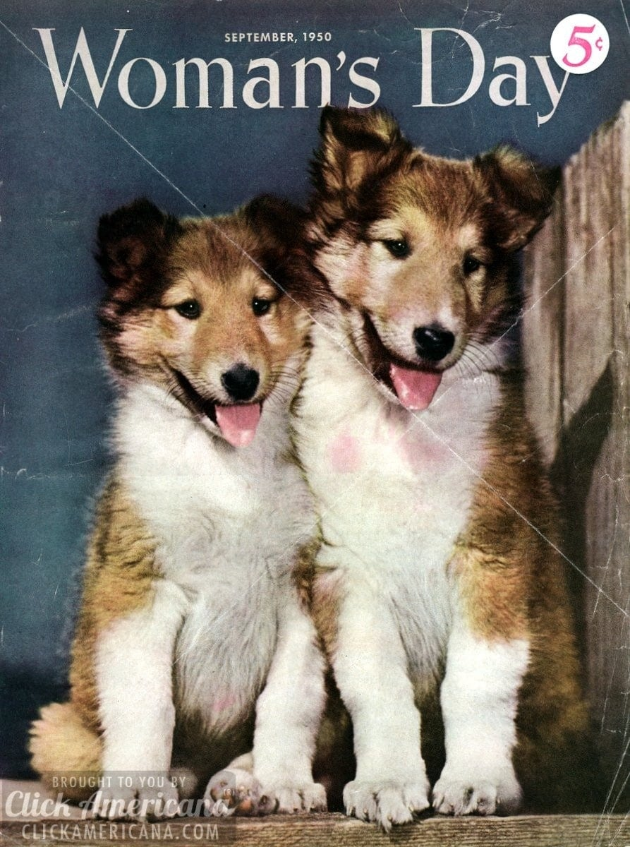 Woman's Day magazine covers from 1950