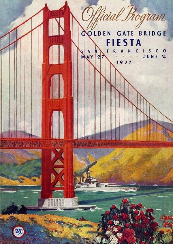 The Golden Gate Bridge Pedestrian Day 1937 Click Americana