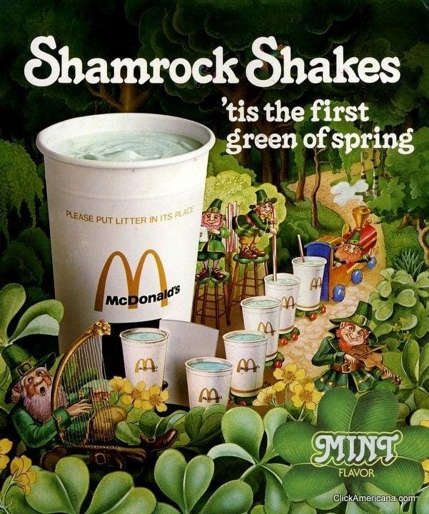 Vintage McDonald's Shamrock Shake TV Ads