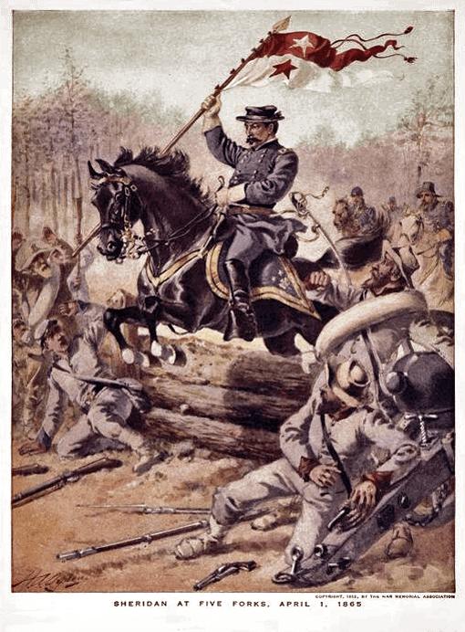 Sheridan at Five Forks - April 1, 1865