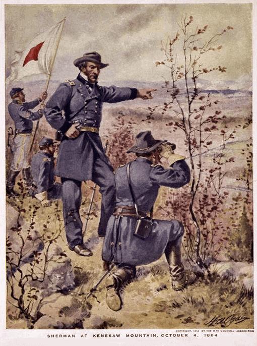 Sherman at Kenesaw Mountain - October 4, 1864