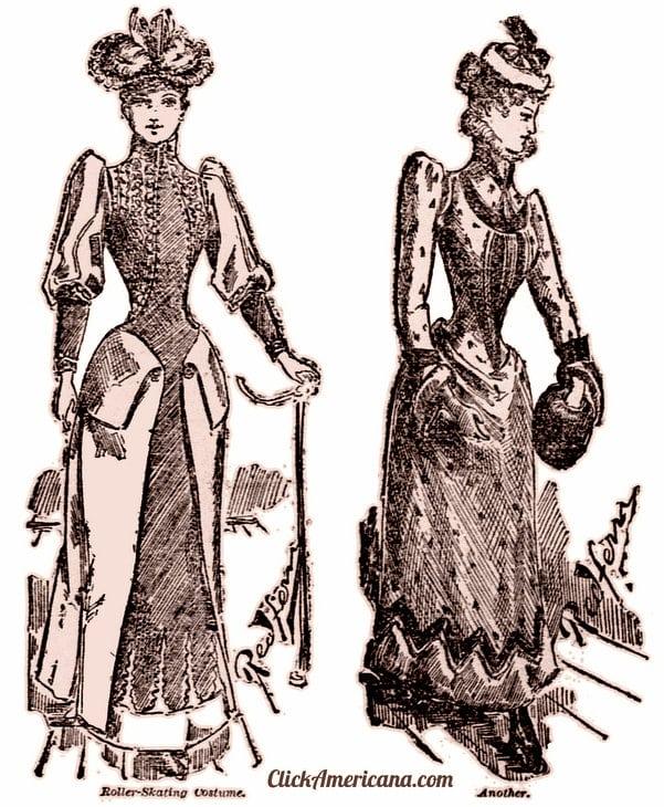 New dresses for roller skating (1890)