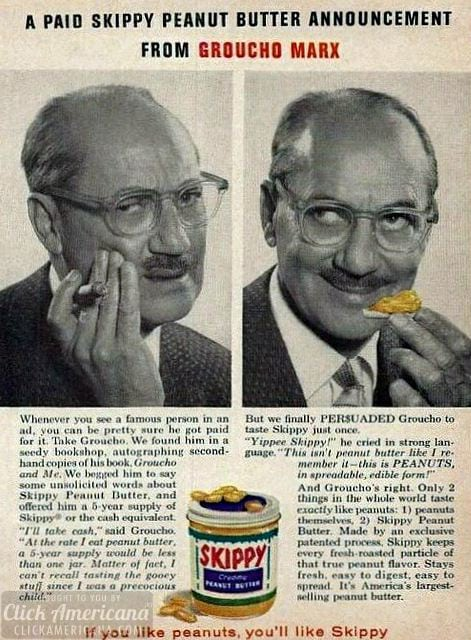 Celebrities sell out for Skippy Peanut Butter (1960)