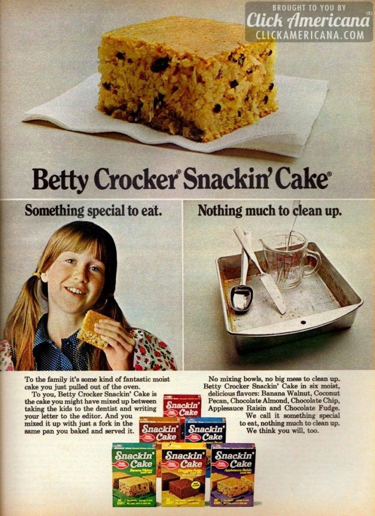 Snackin' Cake: Mix, bake, serve in 1 pan (1970s)