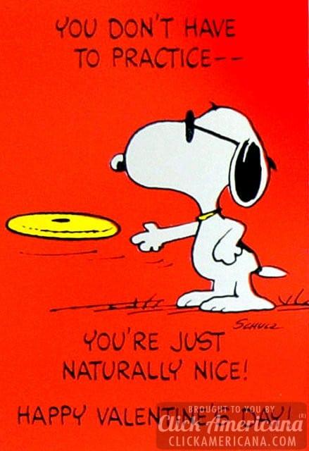 Peanuts Vintage Snoopy Valentine 39 s