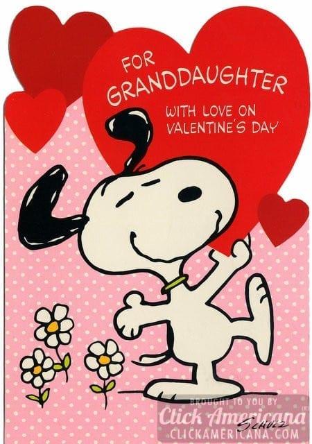 Peanuts! Vintage Snoopy Valentine's Day cards - Click Americana