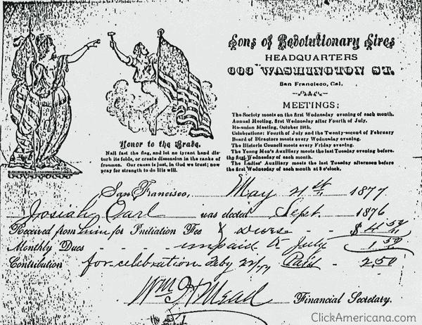Sons of Revolutionary Sires membership (1876)