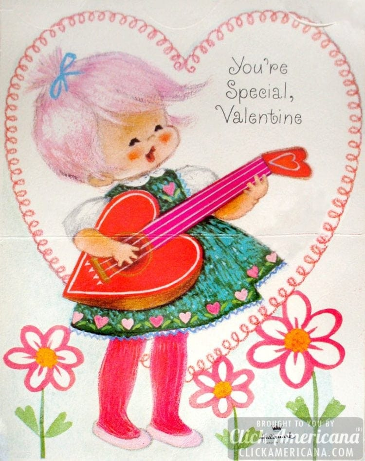 Vintage cards: You're special, Valentine