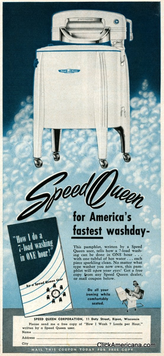 Vintage Speed Queen Washing Machines 1950 Click Americana