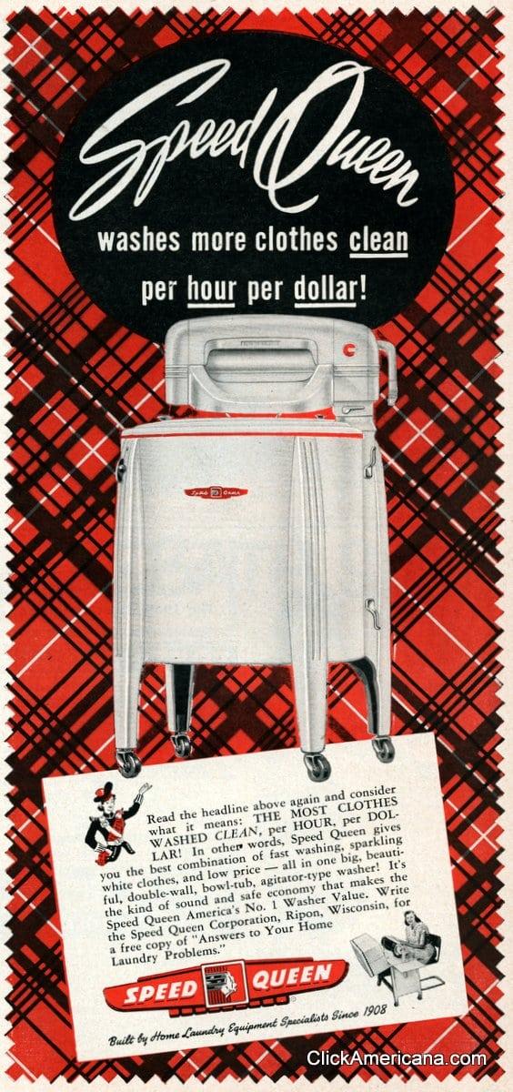 Vintage Speed Queen washing machines (1950)
