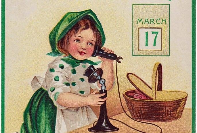 St Patrick's Day postcards (1909)