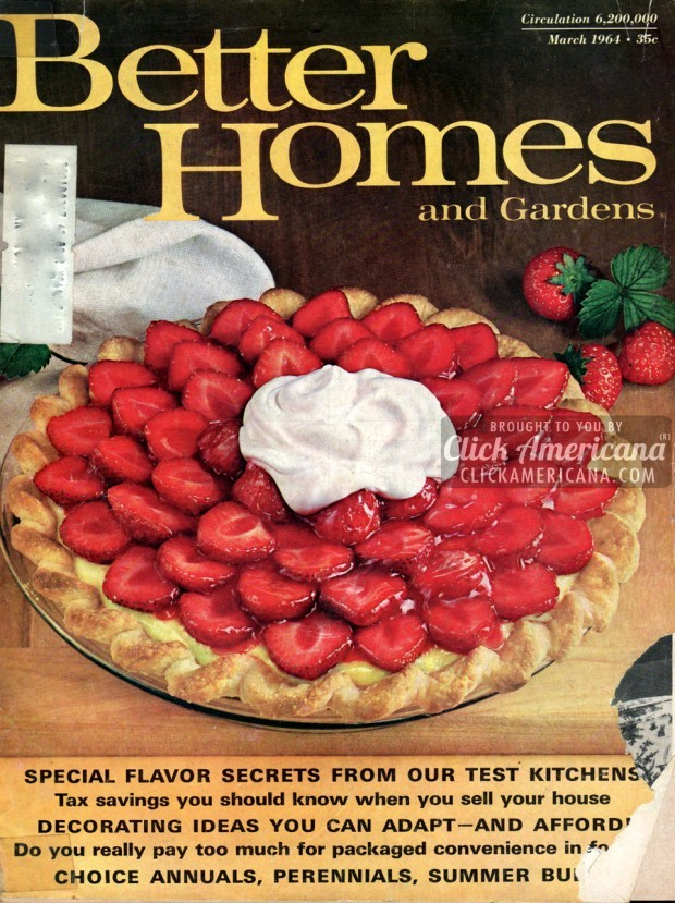 Strawberry satin pie recipe 1964 click americana for Better homes and gardens pie crust