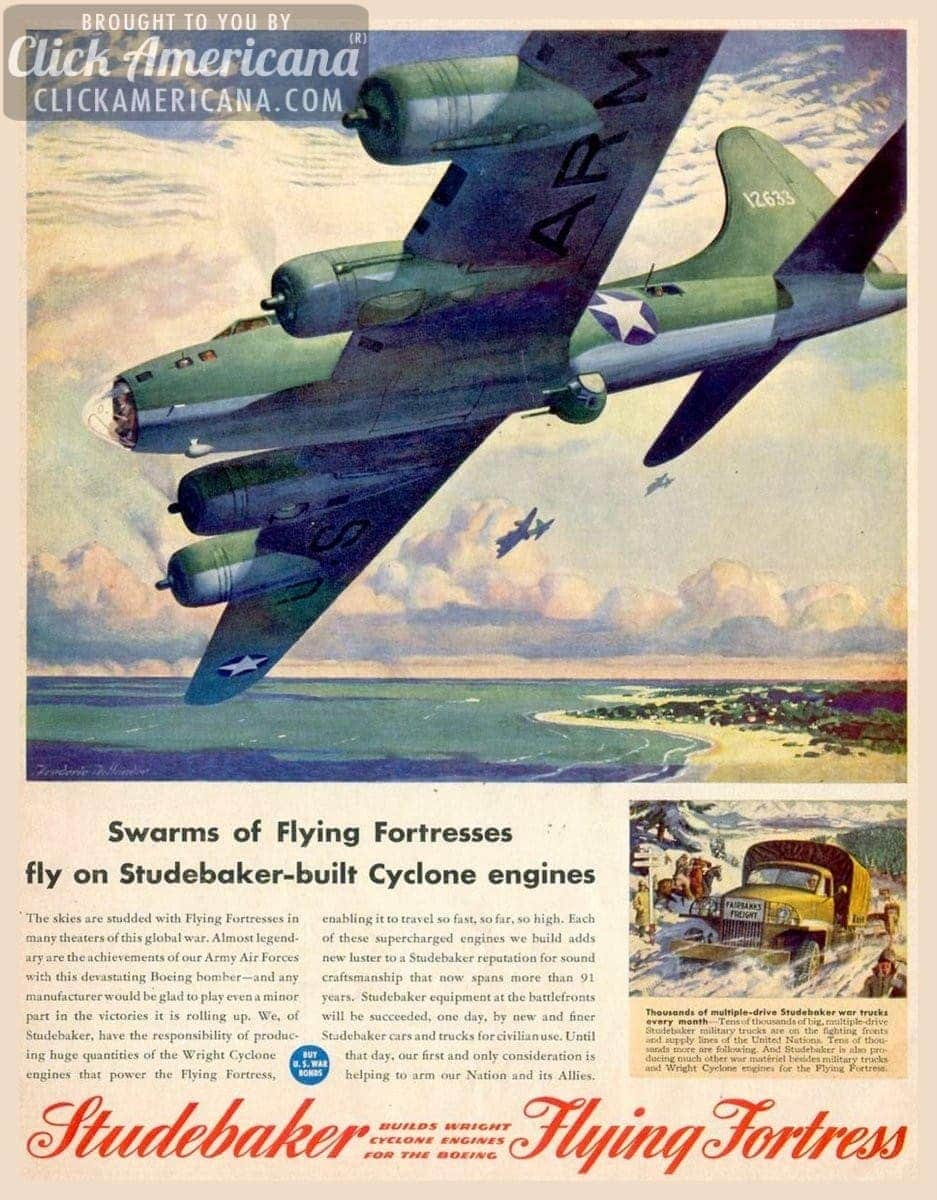 Studebaker Flying Fortress planes for WW2 (1940s)