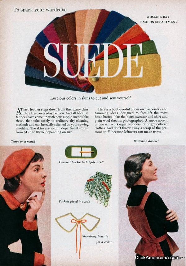 Suede to spark your wardrobe