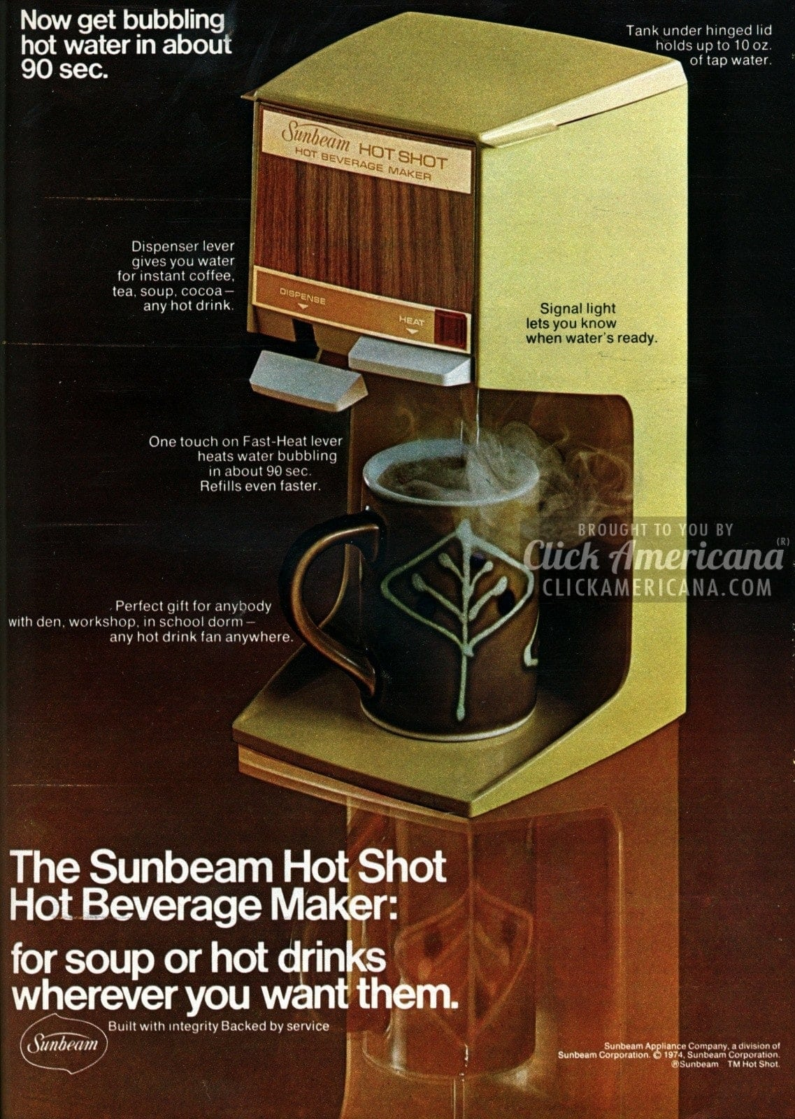 Sunbeam Hot Shot Hot Beverage Maker (1974)