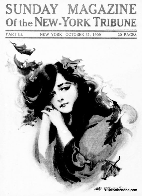 6 classic Sunday cover girls (1909)