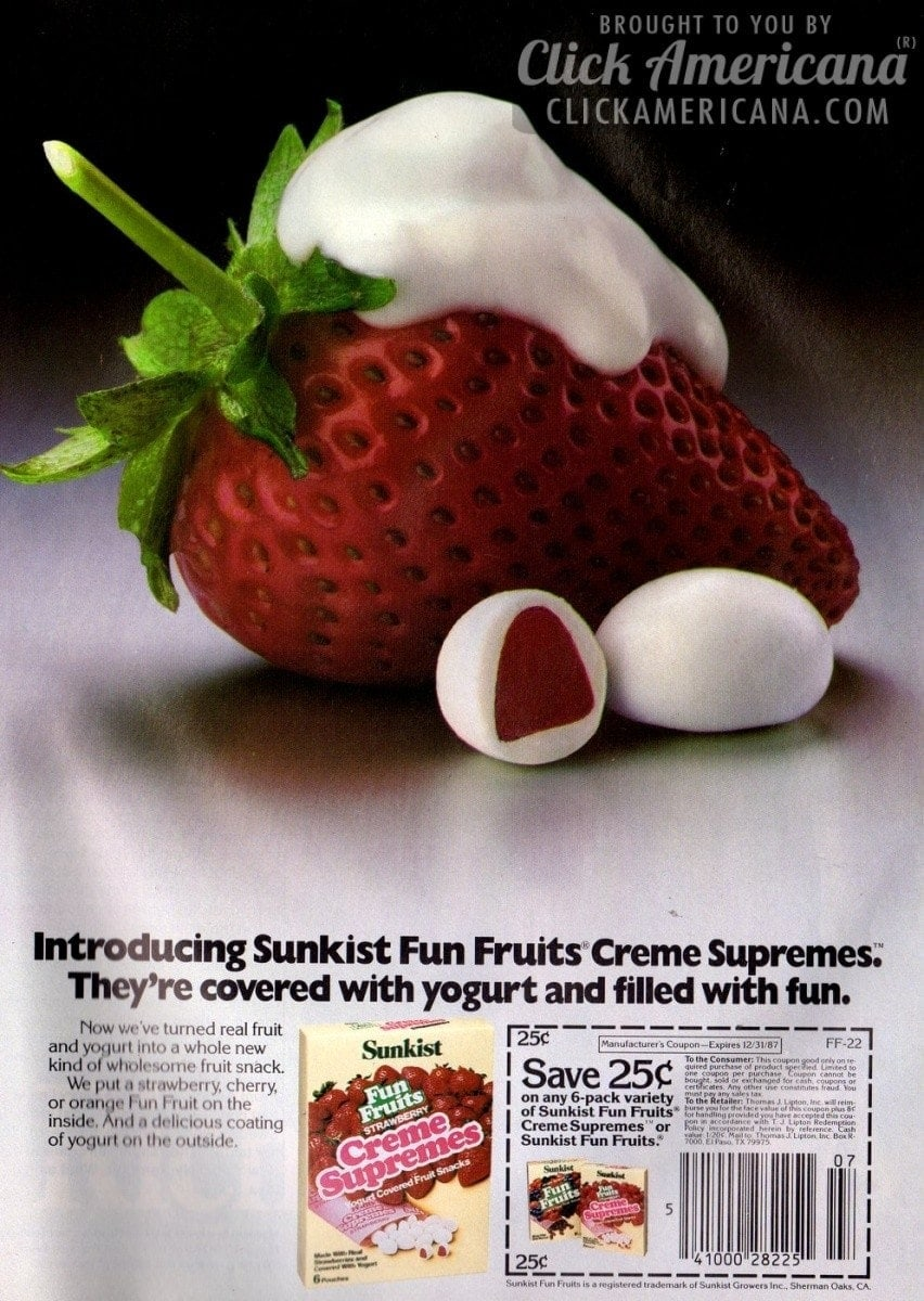 Introducing Sunkist Fun Fruits Creme Supremes (1987)