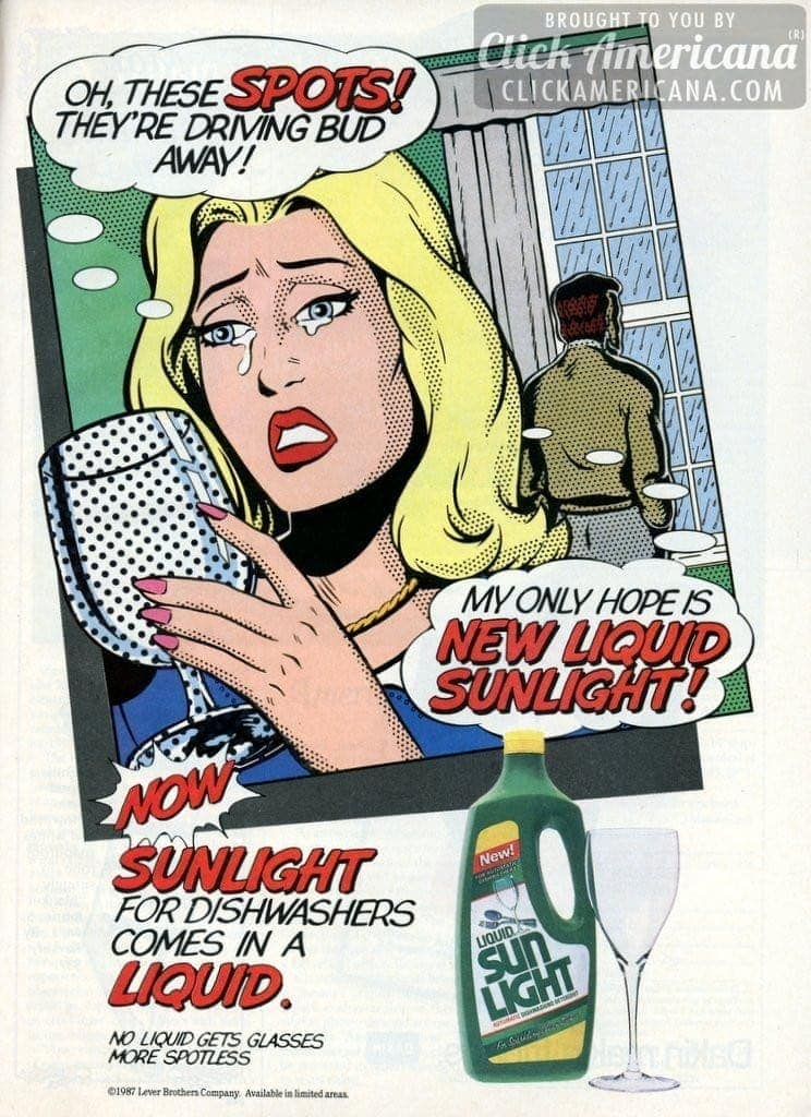 Sunlight detergent saves the day, comic-book style (1987)