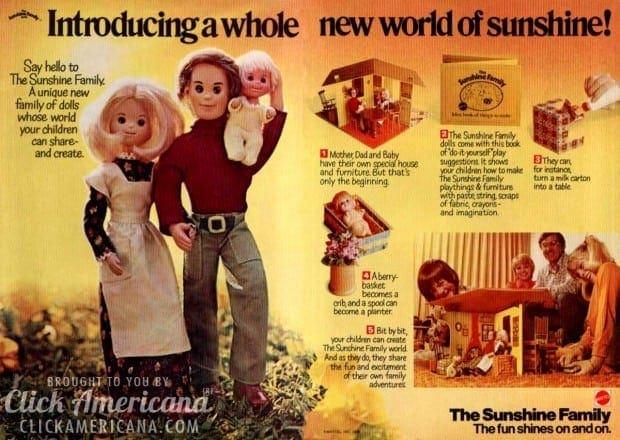 the sunshine family from mattel 19741978 click americana