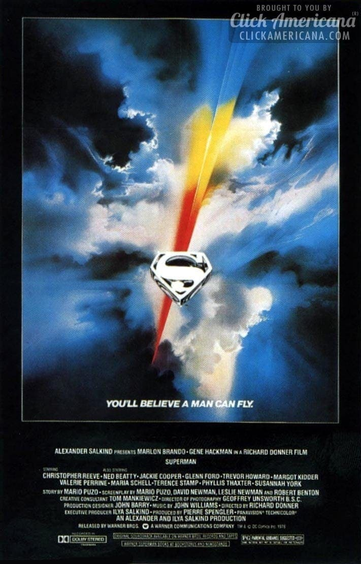 Superman movie poster - 1978