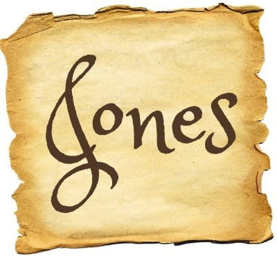 About the surname Jones