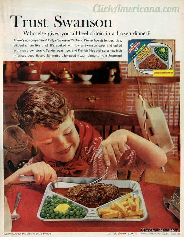 It's Swanson TV dinner time (1961-1968)