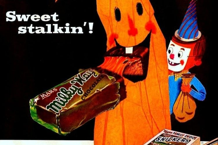 Mars Family Choice candy bars for Halloween (1955) - Click Americana