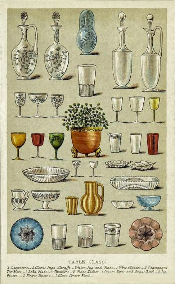 Cheers! Glassware from 1909