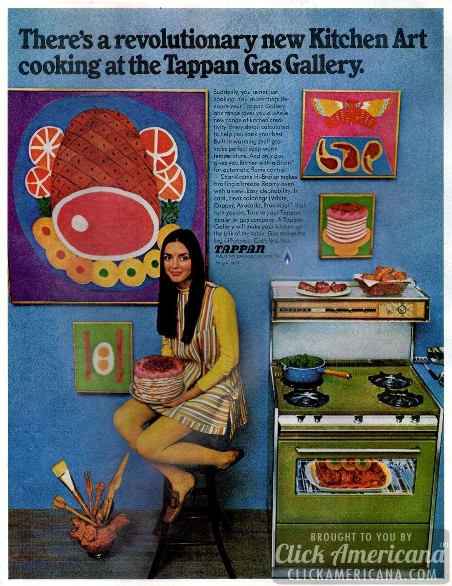 Kitchen art cooking at the Tappan Gas Gallery (1968)