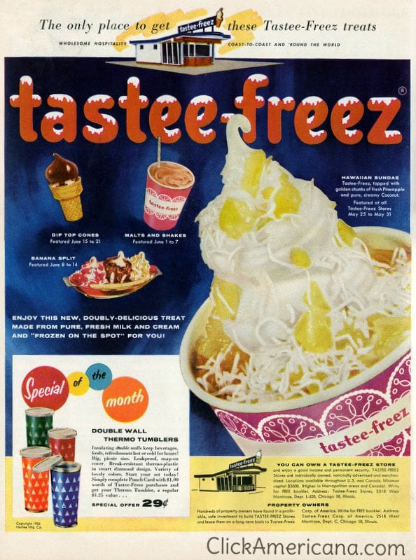 Summertime Tastee-Freez treats (1956)