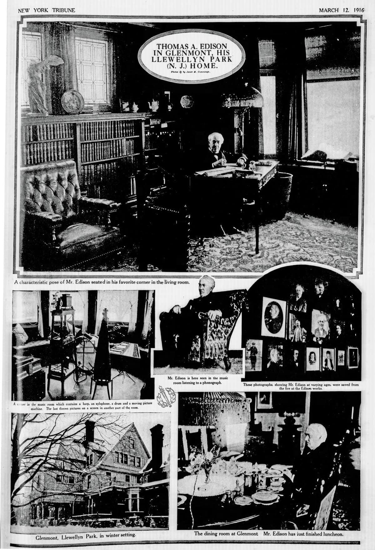 Thomas edison at home 1916 click americana for Edison home show