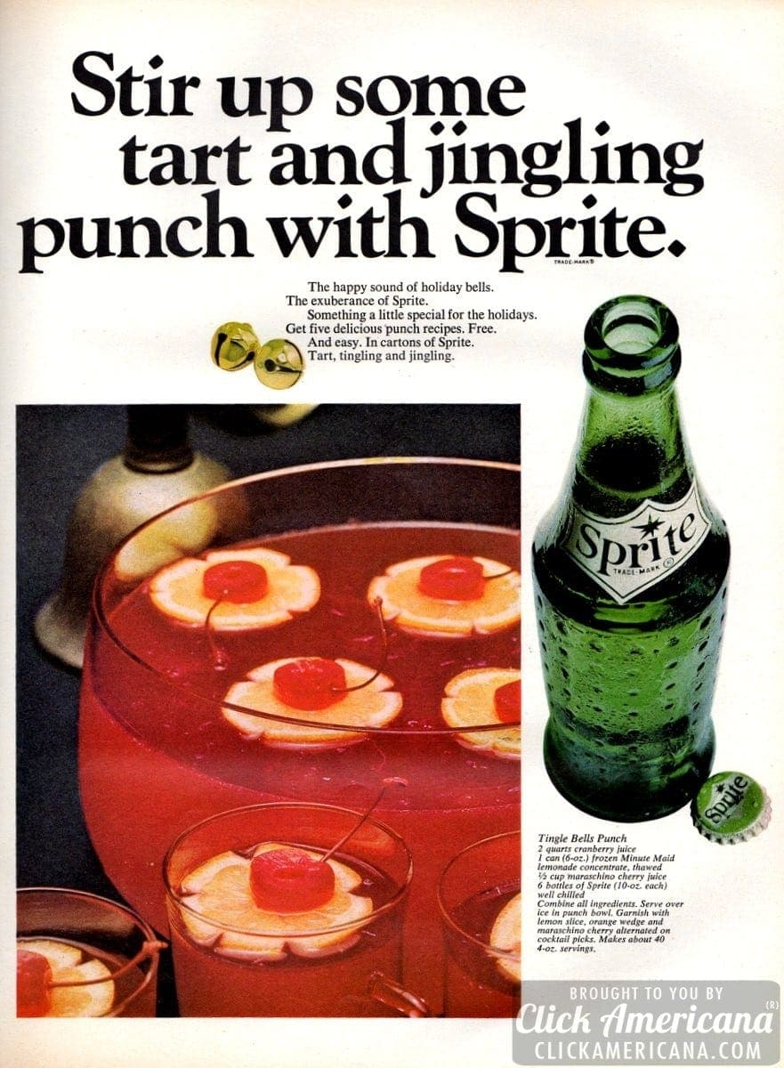 Stir Up Some Tart Amp Jingling Punch With Sprite 1965