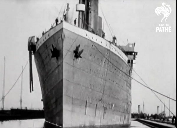 Titanic newsreel with authentic footage (1912)