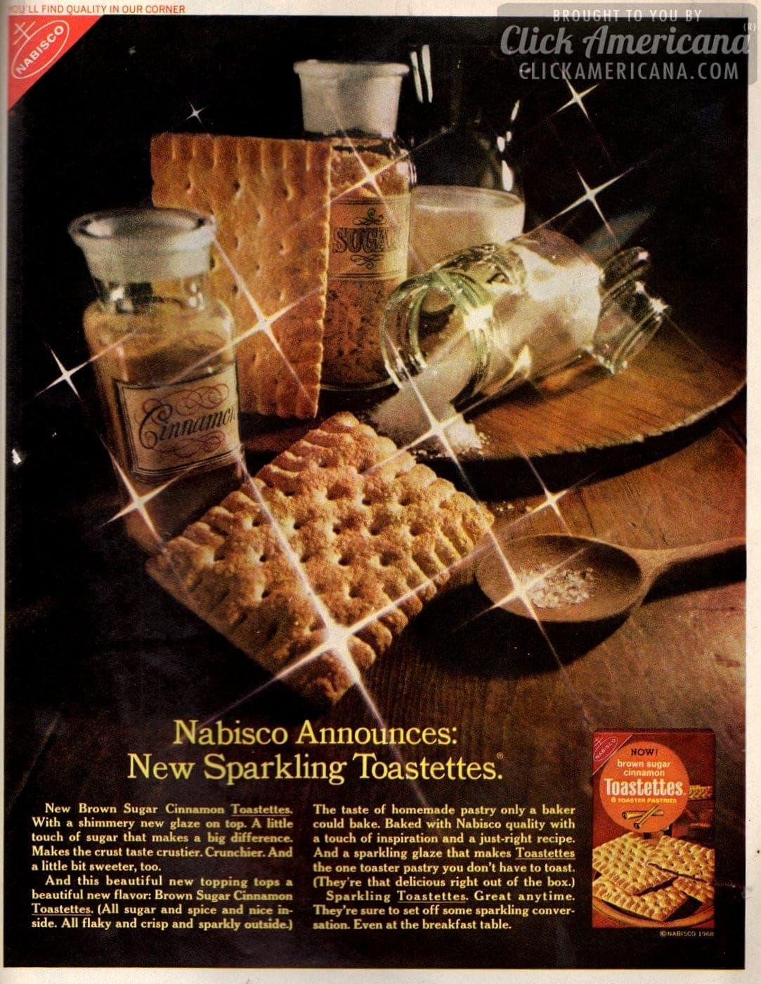 New Brown Sugar Cinnamon Toastettes crackers (1968)