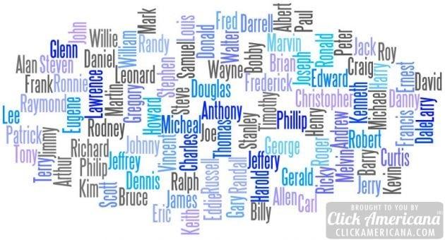 Top 100 Baby Names Boys 1955