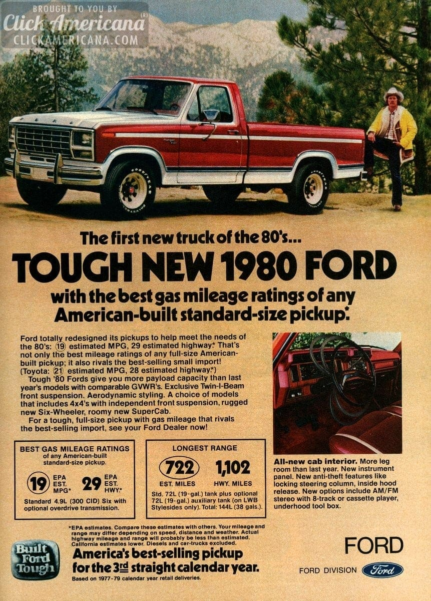 First new truck of the '80s: Tough new 1980 Ford - Click ...