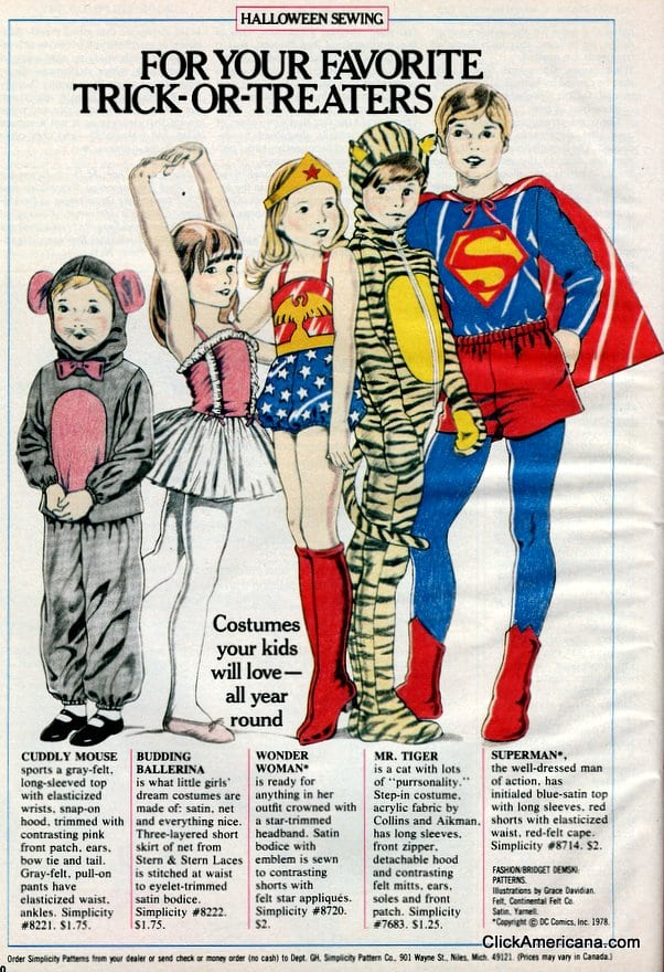 Halloween sewing: Costumes for trick-or-treaters (1979)
