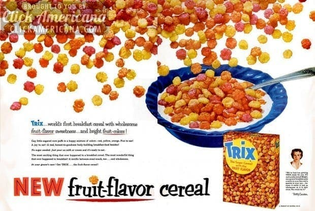 trix-cereal-1956-new-fruit-flavor-cereal-betty-crocker-ad