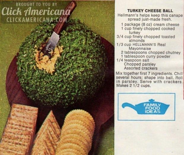 Turkey Cheese Ball recipe (1972)