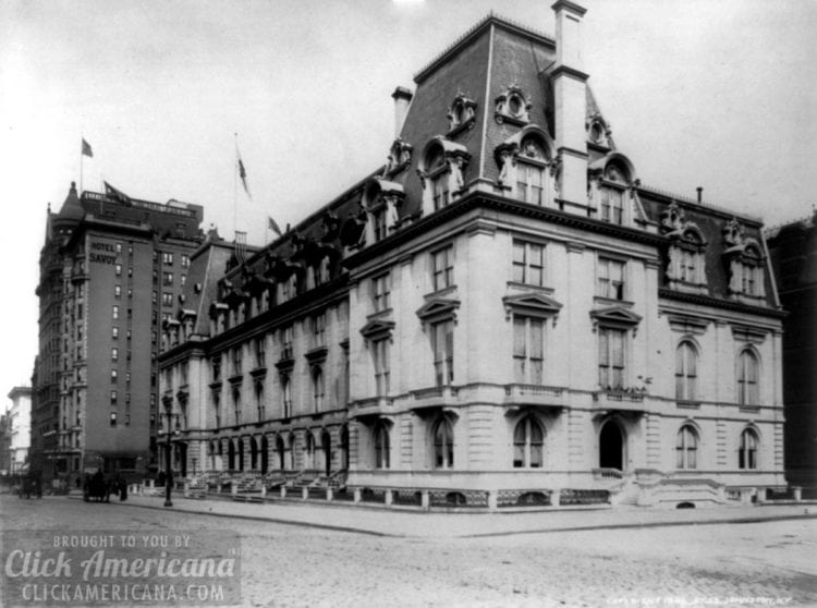 New York City home of the society leader Marietta Reed Stevens (photo from 1894)