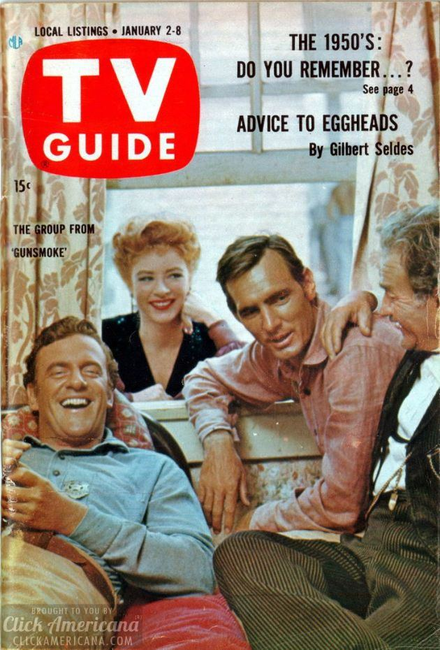 Gunsmoke on the cover of TV Guide (January 1960)