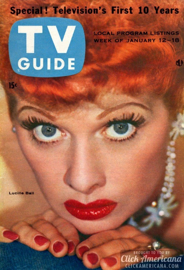TV guide magazines with Lucille Ball