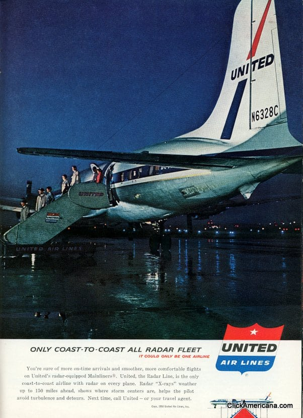 United Airlines ad - 1958