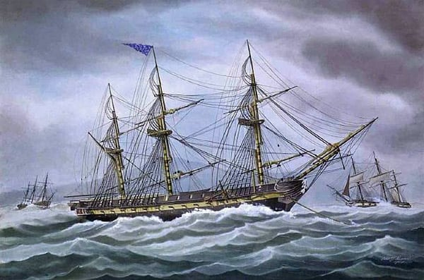 War of 1812: A trick on the British (1864)